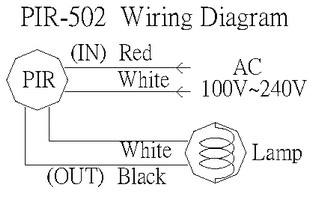 Wiring Diagram: 360 degree motion detector