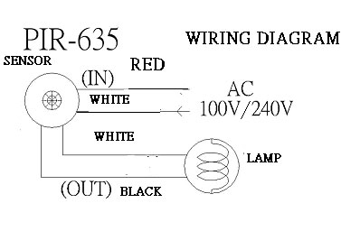 Wiring Diagram: PIR-635 Multi Sensors