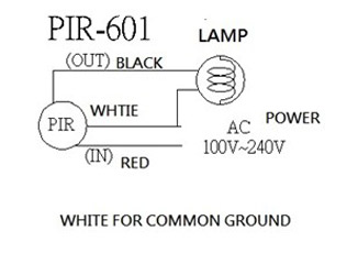 Wiring Diagram: Small Lens Sensor, Small Light Sensor